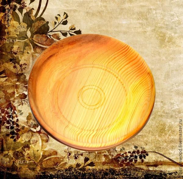 Zedernplatte 25cm, Schale aus sibirischer Zeder - Handarbeit