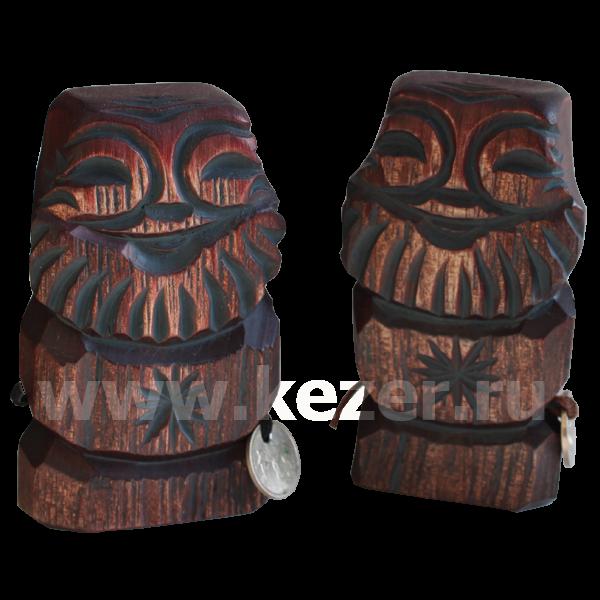 Dyaryk männlich,Talisman des Wohlstands aus Zedernholz, 10-11 cm