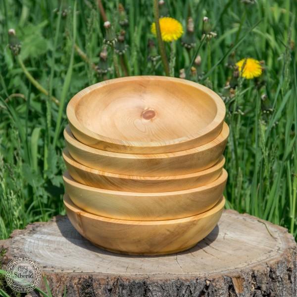 Schalenset (5Stück) aus sibirischer Zeder, Ø145 mm für Lebensmittel