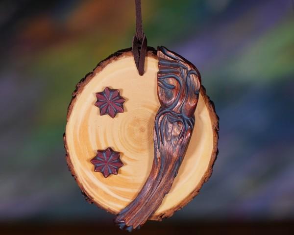 Dyaryk für den Mann, Talisman des Wohlstandes aus sib. Zedernholz, ca.10 cm