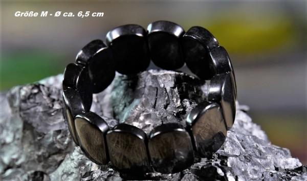 Schungit-Armband Oval - verschiedene Größen