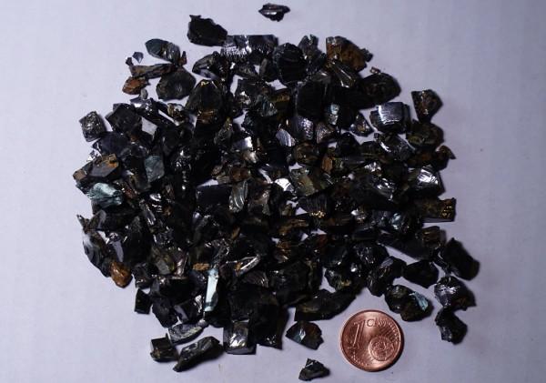 Edel-Schungit-Splitt 100g, ca.0,1 - 1cm