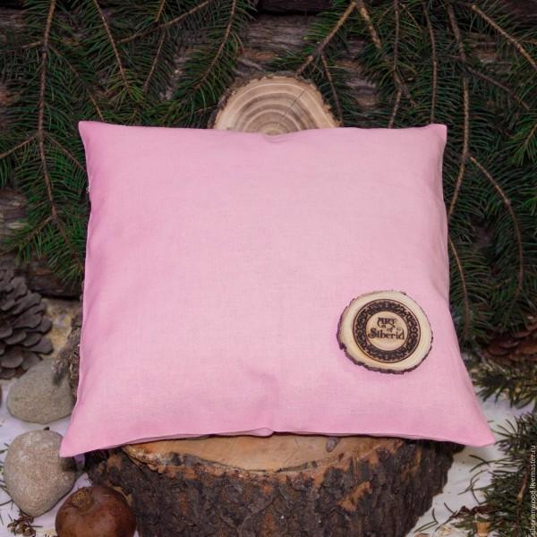 sibirisches Zedernkissen mit Zedernholzspäne ca. 28 cm, rosa