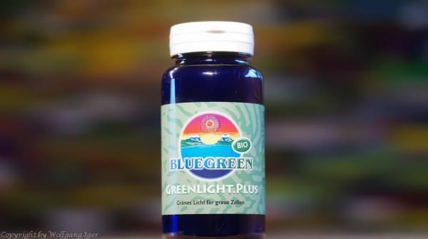 BLUEGREEN GREENLIGHT.PLUS BIO Presslinge 48g, Chlorella, Spirulina , Blaugrüne Algenca. 120 Stück