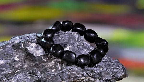 Schungit Armband Trommelstein-große Steine