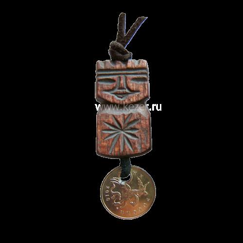 Talisman des Wohlstands für Männer aus Zedernholz, 3-4 cm