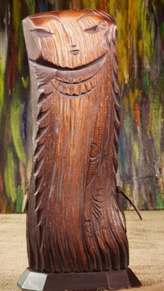 Dyaryk für die Frau, Talisman des Wohlstands aus sib. Zedernholz, ca. 32 cm