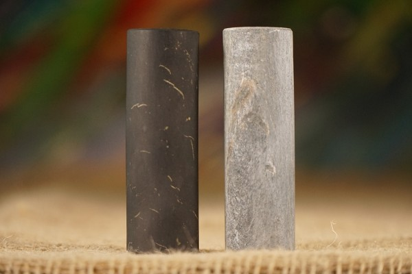 Schungit und Talkchlorit Zylinder unpoliert