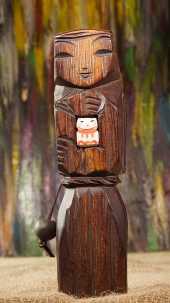 Mutterschaft Skulptur aus Zedernholz, ca.20 cm