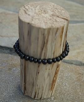 Schungit Perlen-Armband 7mm