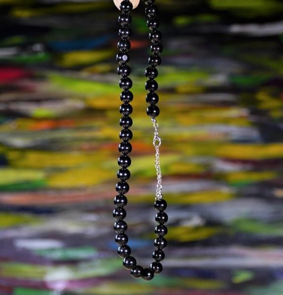 Schungit Perlen-Kette 10mm