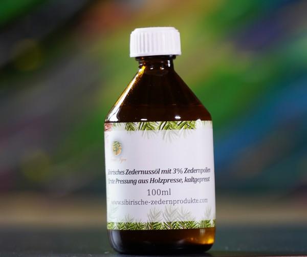 sibirisches Zedernussöl mit 3% Zedernpollen