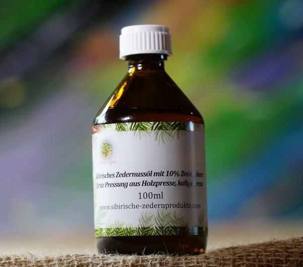 sibirisches Zedernussöl mit 10% Zedernharz aus Holzpresse