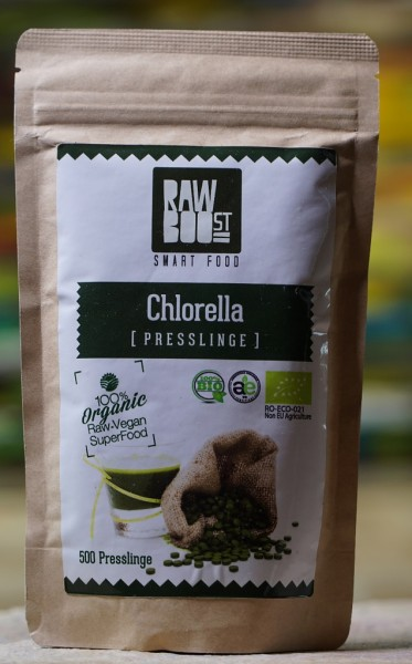Chlorella Presslinge Bio 500St., 250g