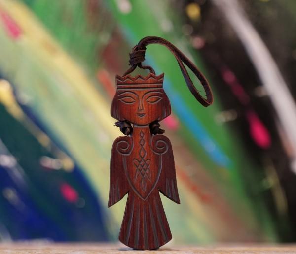 """Hauswächter aus sibirischen Zedernholz """" Sirin"""", 9cm"""