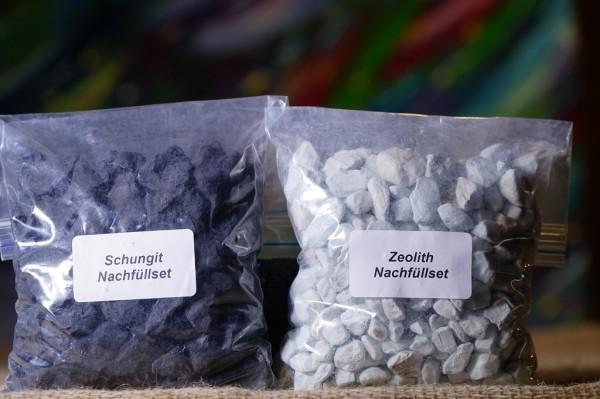 Nachfüllset für die Kartuschen Schungit & Zeolith Wasserfilter, zwei Stück