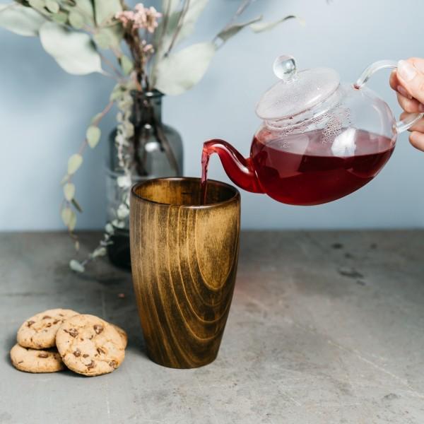 Becher aus sibirischer Zeder für Tee Groß