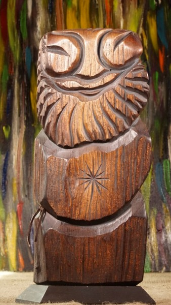 Dyaryk für den Mann, Talisman des Wohlstands aus sib. Zedernholz, ca. 32 cm
