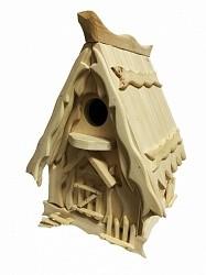 Vogelhaus von Fedor Zaitsev aus sibirischer Zeder- Handarbeit