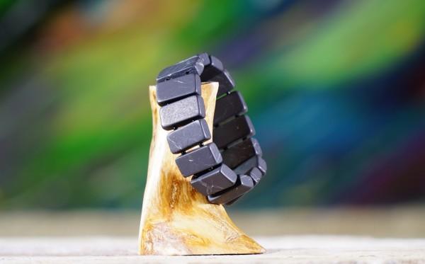 Armband Viereck mit Perle matt
