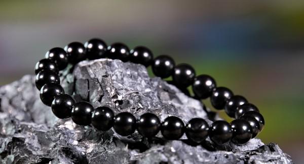 Schungit Perlen-Armband ca. 7mm