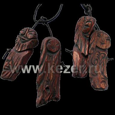 Lecheas- Schützer der Taiga (Talisman des Wanderers) 6-7 cm, aus Zedernholz
