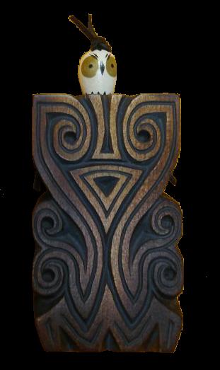Emeneger-Großvater Skulpur aus Zedernholz, ca.10cm