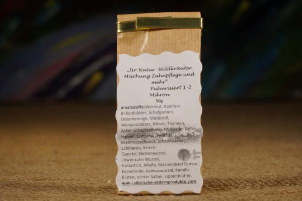 Nachfüllpack ökologisches Zahnpulver aus 30 Wildkräutern in 2 µm von Jana Iger