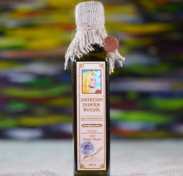 Handgemachtes Zedernussöl nach Anastasia , 250 ml. ORIGINAL von Fa. MEGRE