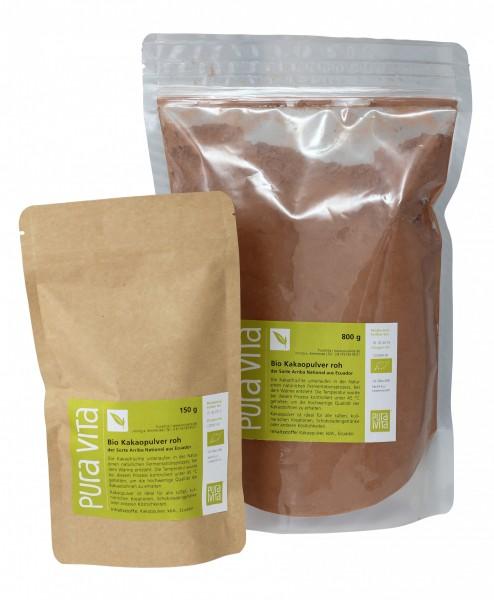 Kakaopulver Criollo in premium Bio-Rohkostqualität 800g